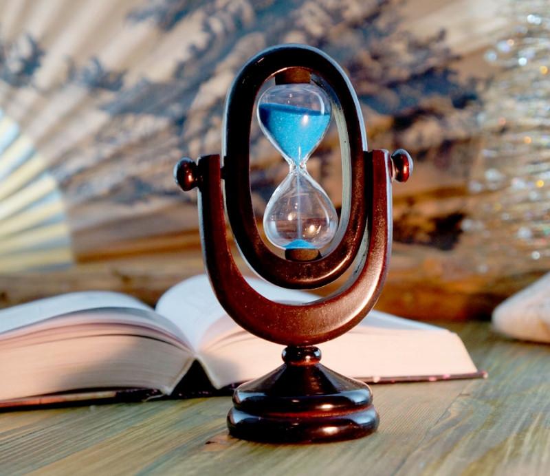 9290101 Песочные часы 'Овал' 5 минут Синий песок