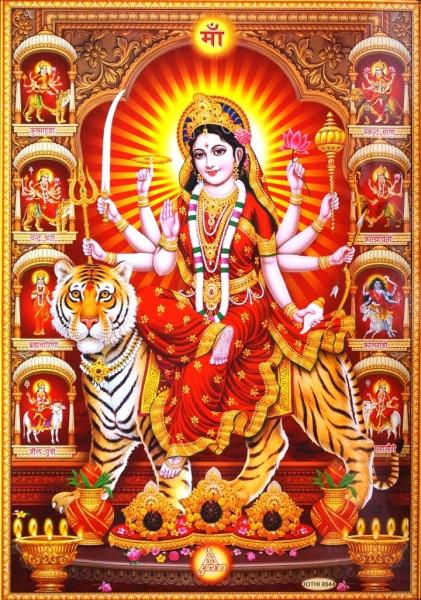 9040041 Постер 'Индийские боги' Дурга Jothi 8544