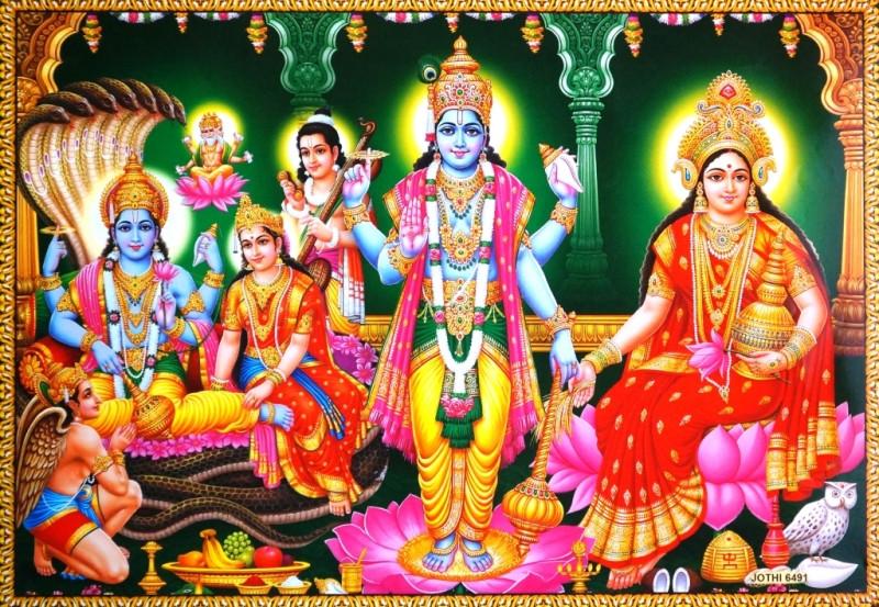 9040041 Постер 'Индийские боги' Сита Рам Jothi 6491