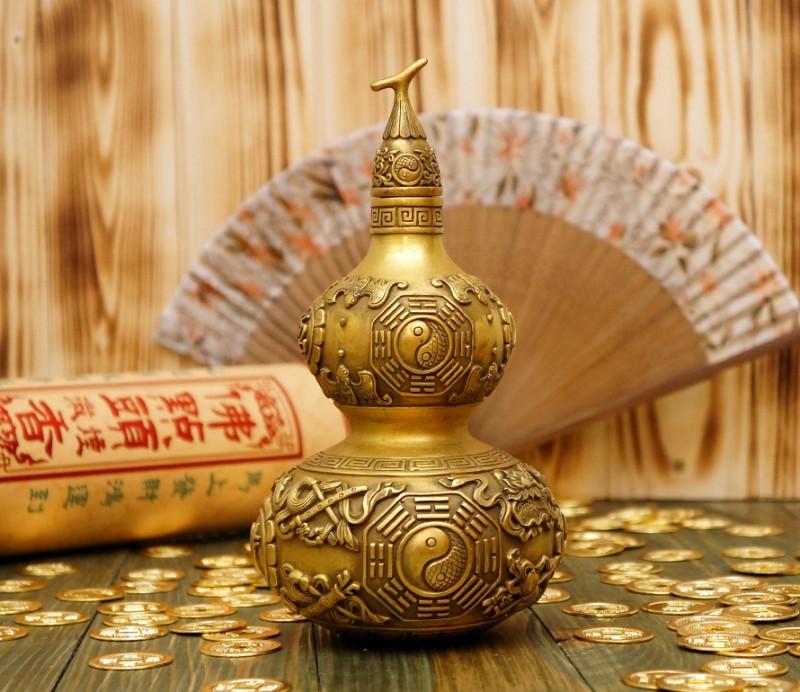 9070309 Тыква Улоу с символами бронза