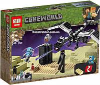 "Конструктор Lepin 18043 Minecraft ""Последняя битва"", 249 детали. Аналог Лего Майнкрафт 21151, фото 1"