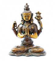 9070072 Статуэтка бронзовая Авалокитешвара Цвет бронзовый