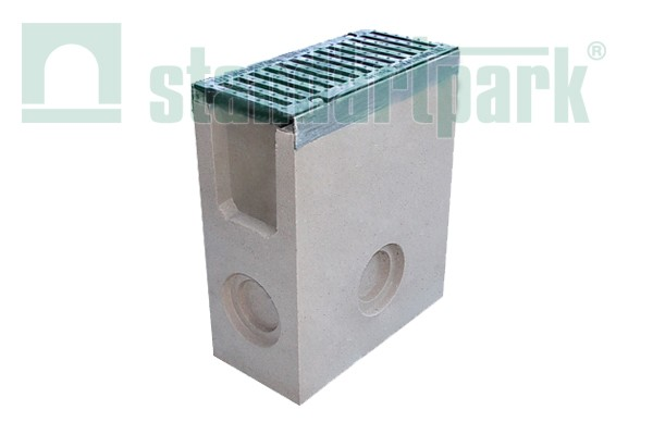 Полимербетонный пескоуловитель DN110 с чугунной решеткой