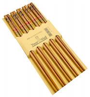 Палочки для еды деревянные комплект из пяти пар №22