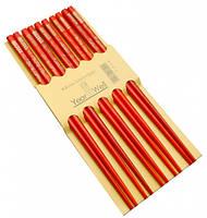 9220001 Палочки для еды деревянные комплект из пяти пар №6