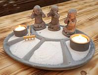 9140111 Дзен набор 'Сад камней' Три монаха