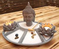 9140112 Дзен набор 'Сад камней' Голова Будды