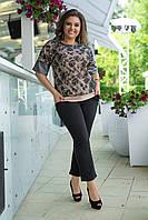 Женский костюм  с укороченными брюками Размер 50 52 54 56 58 60 В наличии 5 цветов, фото 1