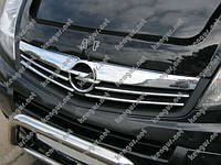 Хром Накладки на решетку (нерж.) на Opel Vivaro