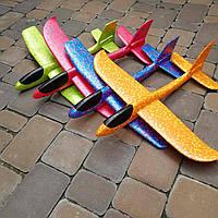 Пенопластовый самолет планер трюкач на дальнее расстояние 48см!