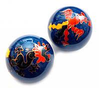 9290010 Массажные шары Баодинга в эмали Дракон + Феникс