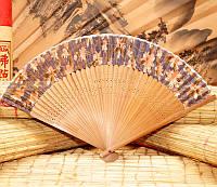 9280013 Веер шелк + бамбук №2