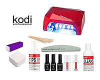 Стартовый набор Kodi с гибридной лампой 36 Ватт для покрытия ногтей гель-лаком