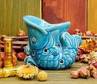 9120203 Аромалампа керамическая 'Рыбка' Индиго