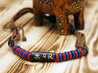 9080247 Бусы - амулет из кости на шнурке 'Wild Tribe' №7