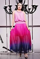 Летний сарафан в пол Мелинда розовый 42-50 размеры