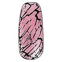 Трескающийся лак для ногтей Christian (розовый с блестками) №13, 6 мл