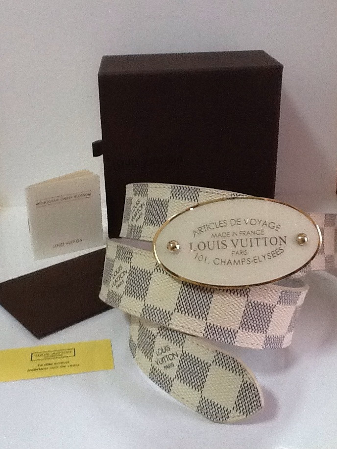 Ремень кожаный женский Louis Vuitton белый