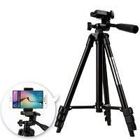 Штатив для смартфона и различных камер 104см + чехол в подарок TRIPOD 3120, трипод для смартфона