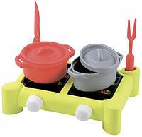 Игровой набор Плита и посуда (7 аксессуаров) Ecoiffier (000602)