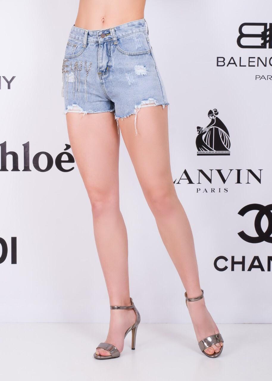 Женские шорты джинс с надписью 42-48