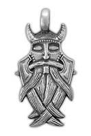 0220019 71523 Амулет защитный Viking 'Маска Одина' материал - олово