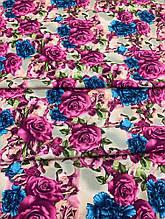 Креп-костюмка с розой и ириской