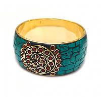 9080642 Браслет кольцо инкрустация натуральными камнями