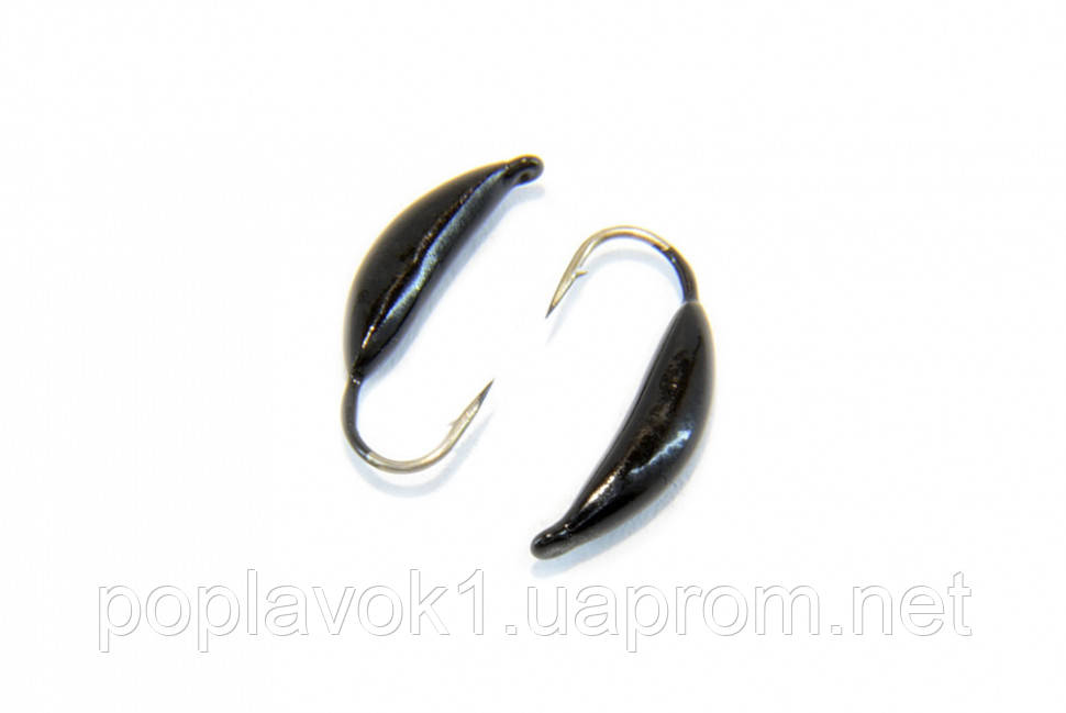 Мормышка вольфрамовая Банан 5мм (черный)