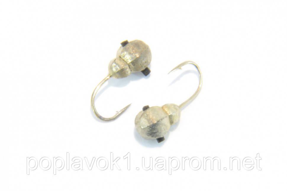 Мормышка вольфрамовая Муравей граненый 4мм (Серебро)