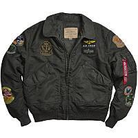 Оригинальная куртка пилот Alpha Industries CWU Pilot X Jacket MJC38014C1 (Sage/Black), фото 1