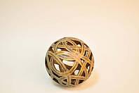 Резной декоративный шар из полирезинга для дома(диаметр 13 см)купить в интернет магазине.