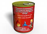 Консервированные Носки Храброго Пожарного - Подарок на День МЧС - Подарок Пожарному (на украинском), фото 3