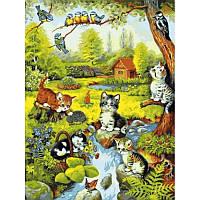 Картина по номерам Игривые котята 40Х50 Babylon VP628