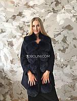 Пальто демісезонне з песцом, 44,46 розмір