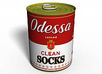 Консервированные чистые носки из Одессы (на английском) -  Оригинальный Подарок Из Одессы - Морской Сувенир