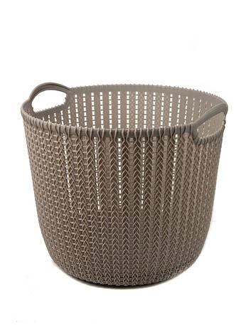 Корзина для хранения вещей Yimei 32х30,4х26,5см Серый, фото 2