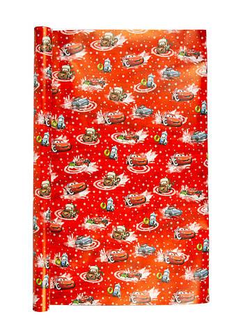 """Подарочная упаковка """"Тачки"""" Disney 70х1000см Красный, Белый, фото 2"""