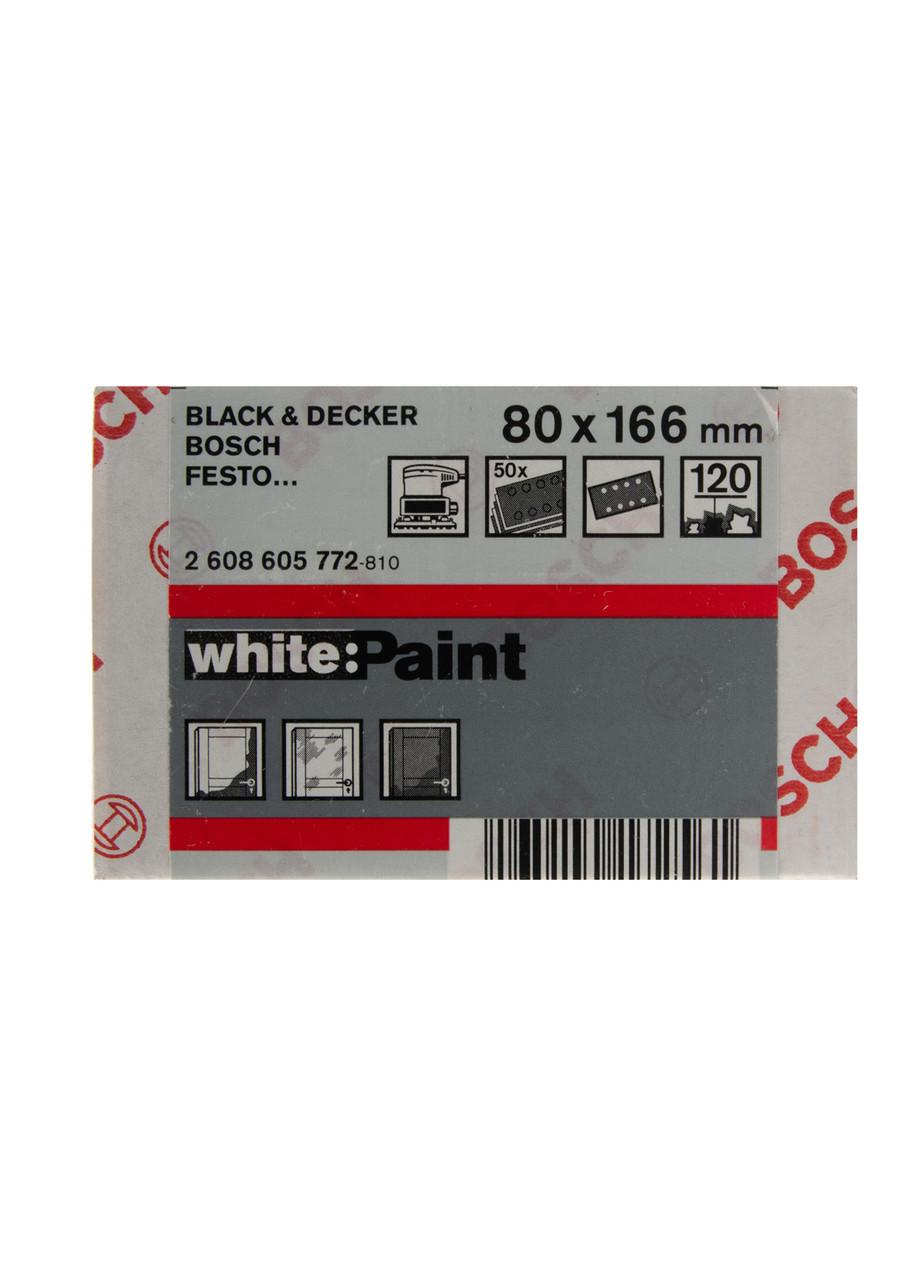 Шлифовальный лист для краски (50шт.) Bosch 8х16,6см Белый