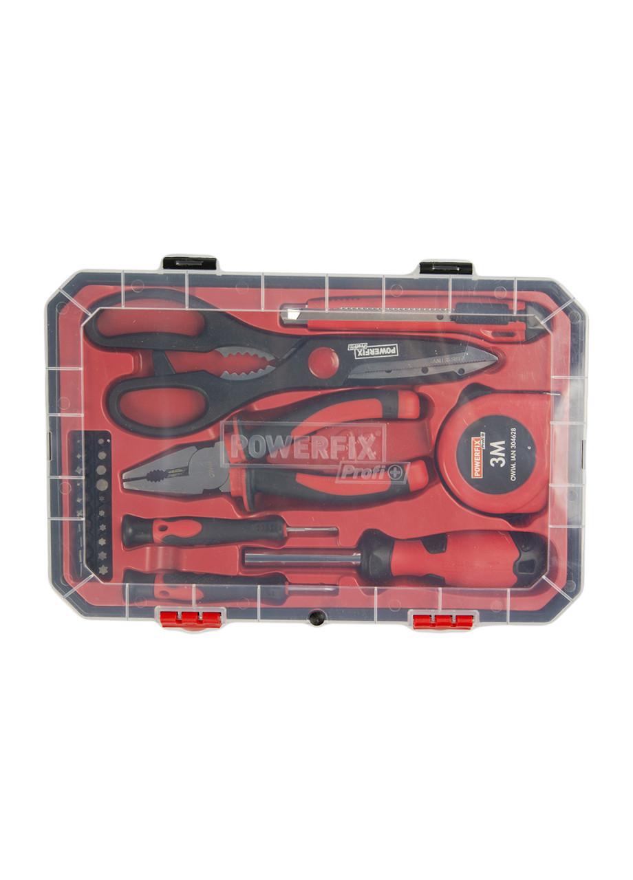 Набор инструментов (27пр.) Powerfix 28х18см Красный, Черный