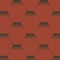 Битумная черепица Акваизол / Aquaizol серия Мозаика красный мак