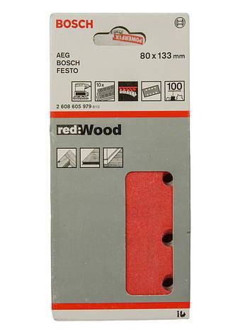 Шлифовальный лист для дерева (10шт.) Bosch 8х13,3см Красный, фото 2