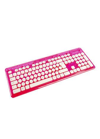 Клавиатура беспроводная Rock Candy PDP 44,5х15см Розовый, Белый, Серый, фото 2