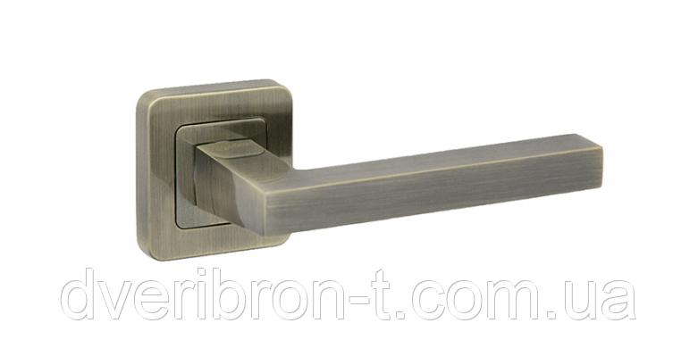 Дверные ручки Safita 465R40 AB бронза, MSN/CP сатин/хром.