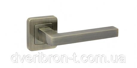 Дверные ручки Safita 465R40 AB бронза, MSN/CP сатин/хром., фото 2