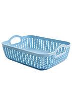 Корзина для хранения вещей Yimei 26,5х20х8,5см Голубой