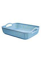 Корзина для хранения вещей Yimei 35,5х26,5х8,5см Голубой