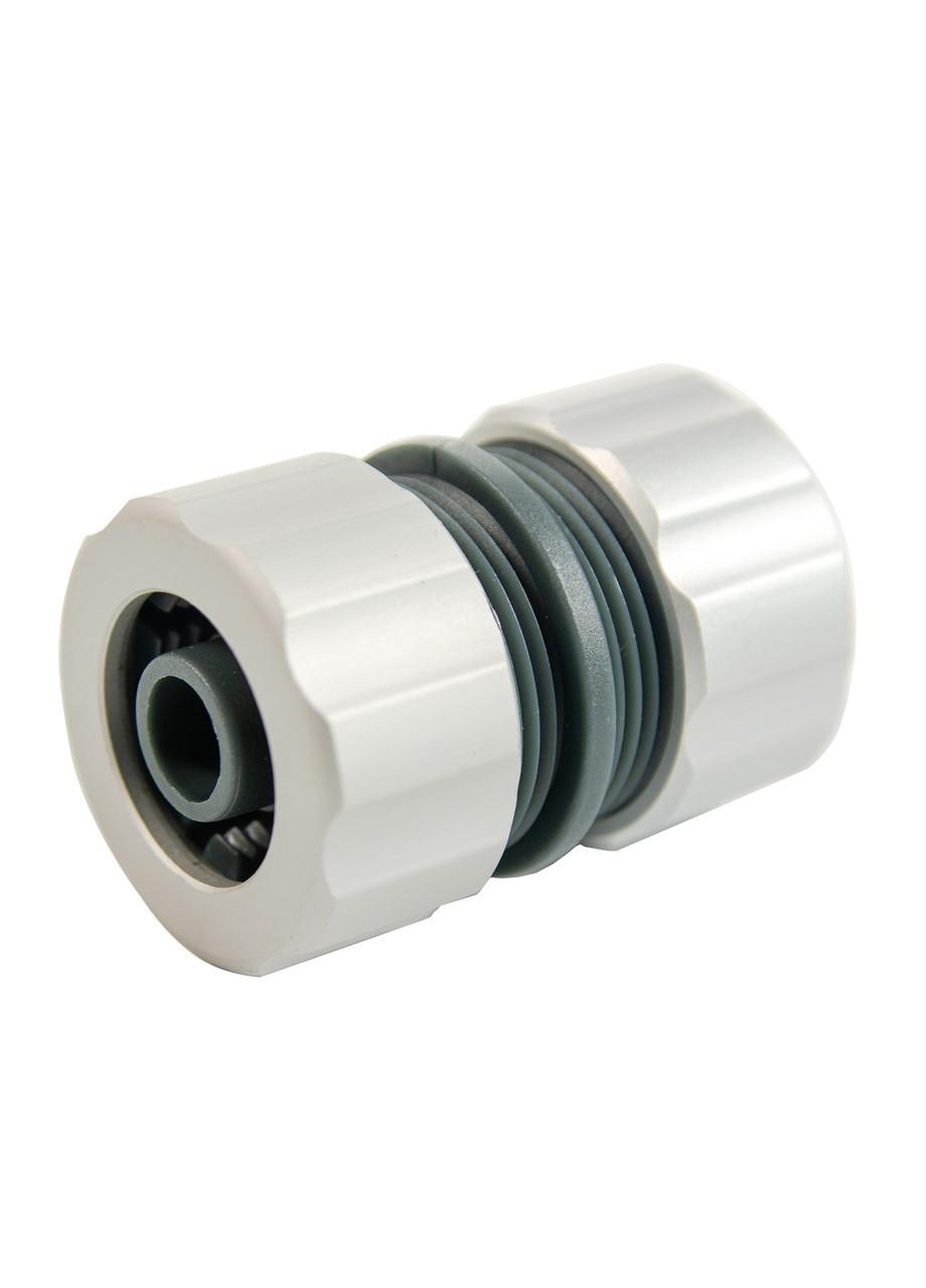 Коннектор для шланга Florabest D=1,3см Серый, Черный