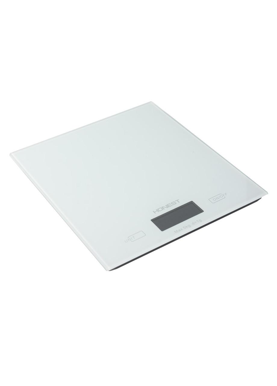 Кухонные весы  Honest 18х20см Белый