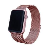 Миланский сетчатый браслет Milanese Loop Band for Apple Watch 42/44 mm rose gold